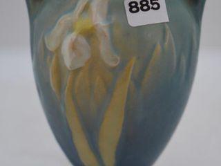 Roseville Iris 915 5  vase  blue