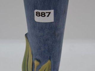 Roseville Velmoss II 115 7  bud vase  blue