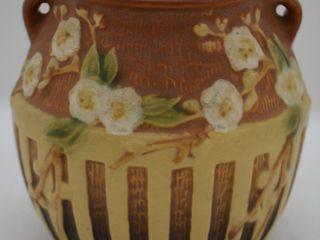 Roseville Cherry Blossom 618 5  vase  brown