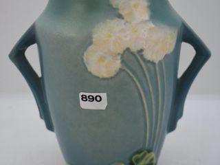 Roseville Primrose 760 6  vase  blue