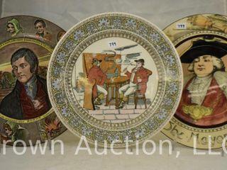 3  Royal Doulton 10 5 d plates