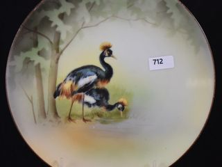 Rare R S  Germany 8  Crowned Crane plate