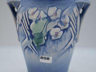 Roseville Clemena 751 7  vase  blue