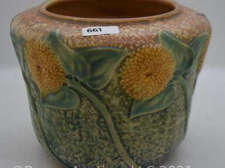 Roseville Sunflower 486 5  vase