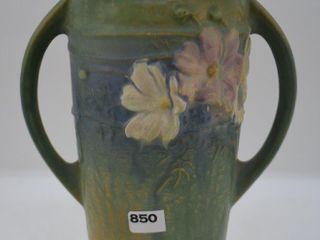 Roseville Cosmos 953 9  vase  green
