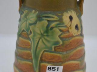 Roseville luffa 683 6  vase  brown