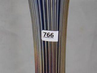 Carnival Fine Rib 12  vase  cobalt
