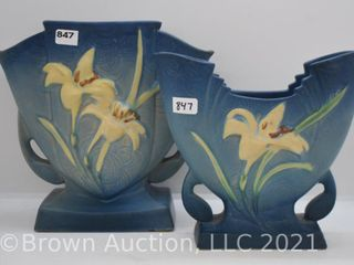 2  pieces of Roseville Zephyr lily  blue