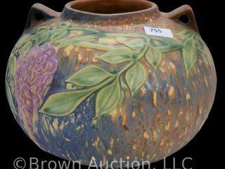 Roseville Wisteria 637 6 5  vase  blue