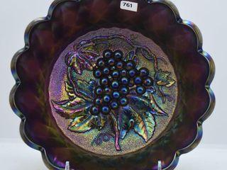 Imperial Grape 3 h x 8 d purple bowl