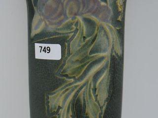 Roseville Rosecraft Panel 9  wall pocket  green