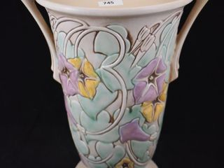 Roseville Morning Glory 731 12  vase  white