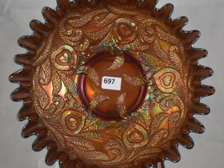 Carnival Heart and Vine 2 5  x 7 d fiery amy  bowl