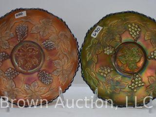 2  Carnival Vintage leaf 2  x 6 5 d bowls