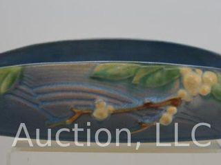 Roseville Snowberry 1Bl2 12  console bowl  blue