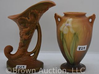 2  pieces of Roseville pottery