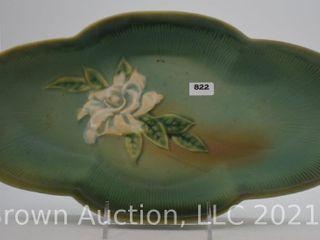Roseville Gardenia 631 14  console bowl  green