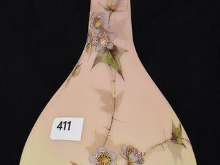 Mt  Washington Burmese enameled 8 h vase