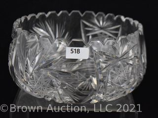 American Brilliant Cut Glass 6 5 d deep bowl