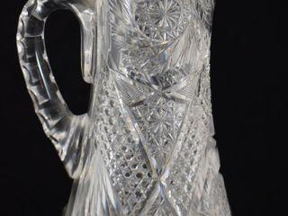 American Brilliant Cut Glass 9 5 h pitcher