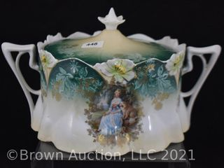 R S  Prussia lily Mold cracker jar