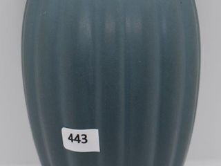 Roseville lombardy 1256 8  wall pocket  blue