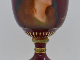 Mrkd  Royal Vienna beehive 6 5  portrait urn