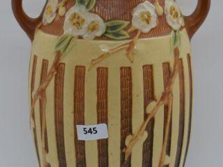 Roseville Cherry Blossom 626 10  vase  brown