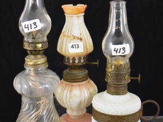 3  Miniature oil lamps