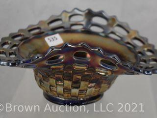 Carnival Blackberry Basketweave open edge hat shape  cobalt