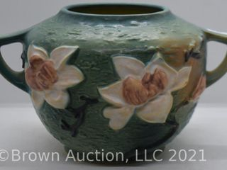 Roseville Magnolia 446 6  bowl  green