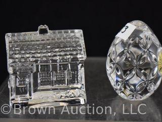2  Mkd  Waterford Crystal paperweights