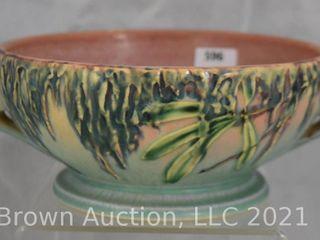Roseville Moss 291 6  bowl  pink green