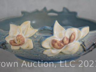 Roseville Magnolia 448 8  bowl  blue