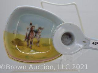 Royal Bayeuth Arab on brown horse candlestick holder  blue mark