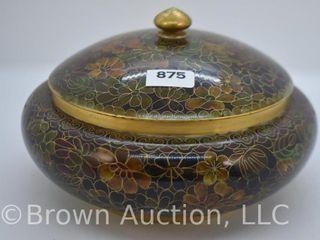 Cloisonne enamel 7 d bowl w lid