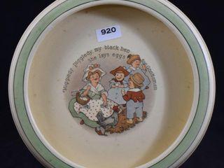Roseville child s plate