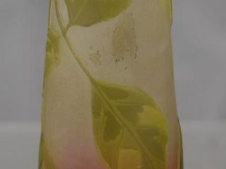 Signed Galle Cameo Glass 4 25 h cabinet vase