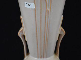 Roseville Moderne 801 10  vase  tan