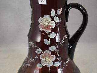 Victorian amethyst glass 13  tankard pitcher