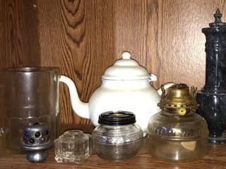 Oil lamps  Enamel Pot  Ink Well