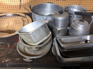 Aluminum Kettles  Colanders  large Pot  Sheets