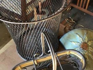 Waste Basket  Wall Hanging  Metal Basket