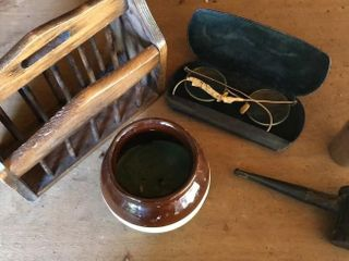 Vintage Eye Glasses  Tobacco Pipe