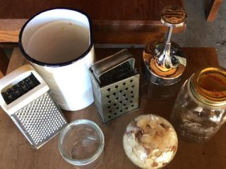 Cheese Graters  Ball Jar  Glass Chopper