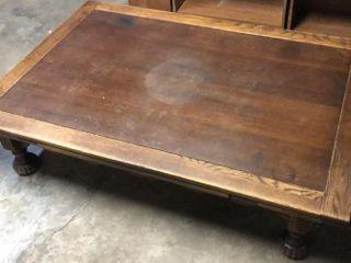 Antique Oak Modified Table