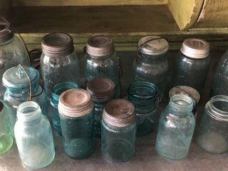 19  Blue Mason Jars
