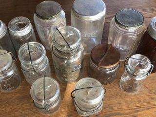 13  Assortment of Vintage Jars