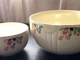 2  Halls Kitchenware Bowls