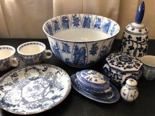 9 Pc  Blue Japanese China